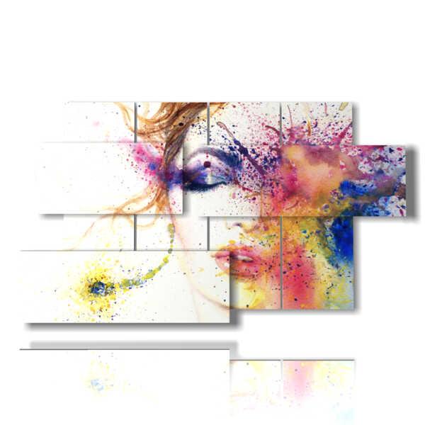 cuadros cuadro abstracta mujeres del ojo