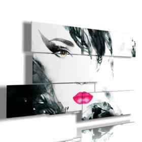 quadri immagini donne con piume nere