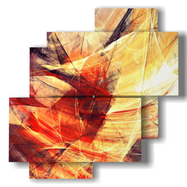 painting with images yellow and red abstract paintings
