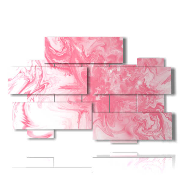 pink abstract art paintings