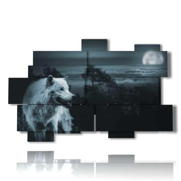 il lupo nei quadri animali bianco e nero