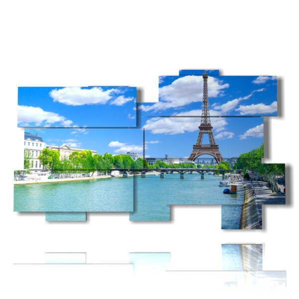 quadro Parigi tour Eiffel di giorno