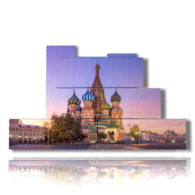 painting of the St. Basil's Cathedral in Moscow Russia picture