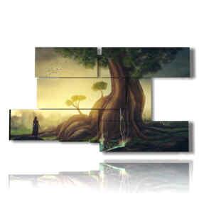 quadro moderno alberi giganti di fantasia