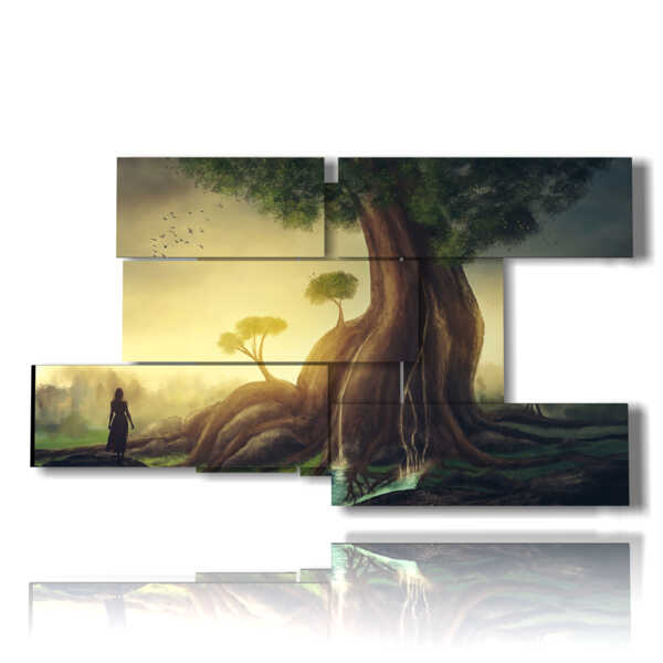 modern painting trees
