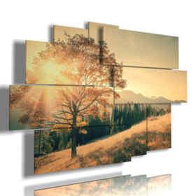 quadri alberi autunno al risveglio