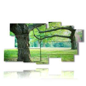 Cuatro estaciones cuadro árbol