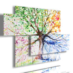 quadro albero della felicità di quattro stagioni