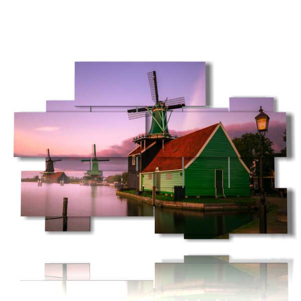 quadro foto mulini a vento Amsterdam