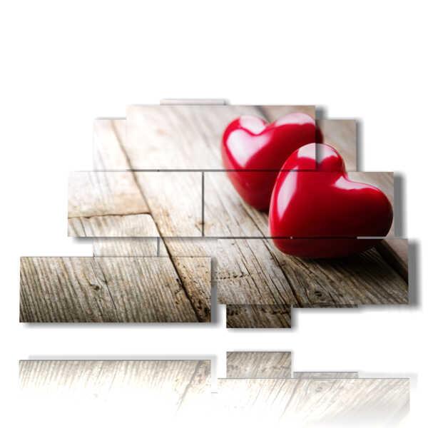 cuadros con corazones Piccolini