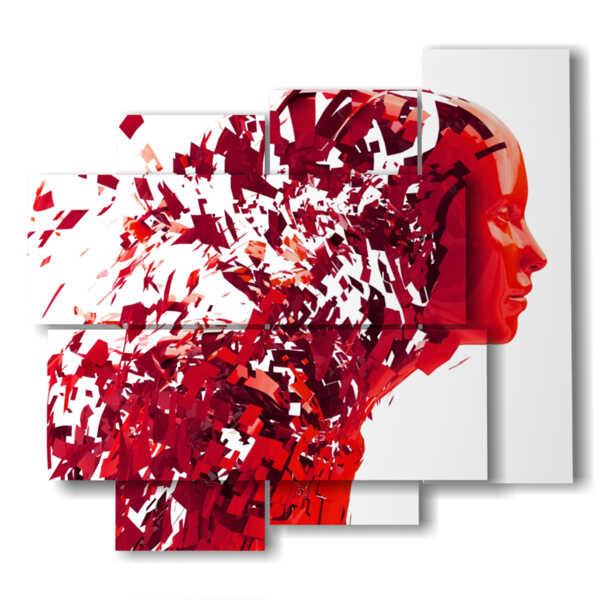 quadri con donne e fiori libera la mente