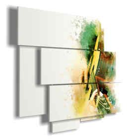 modern abstract painting Guitar
