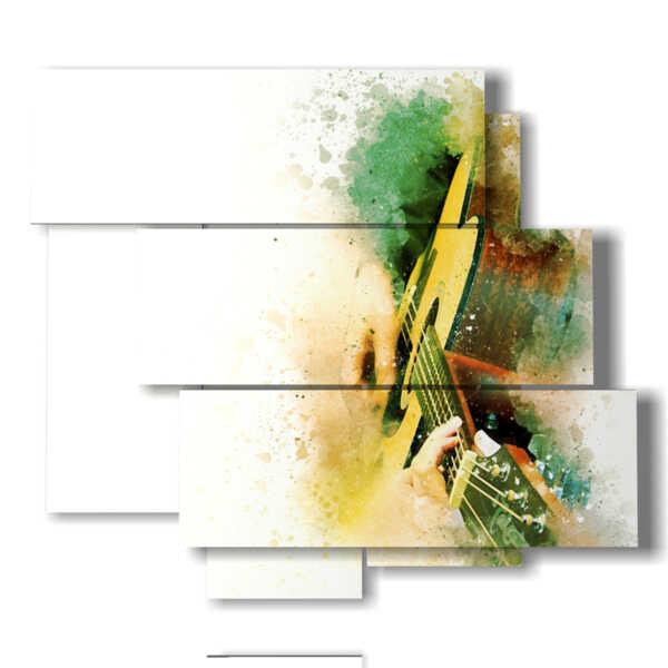 Guitarra moderno cuadro abstracta
