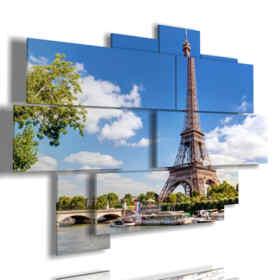 quadri su Parigi guardando la Torre Eiffel