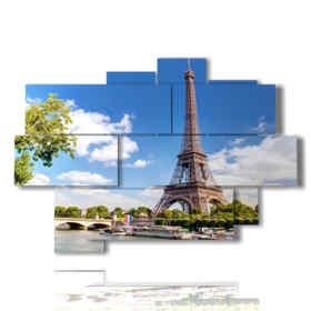 tableaux de Paris regardant la Tour Eiffel