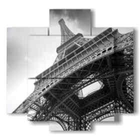 imagen en blanco y negro recorrido Paris Eiffel
