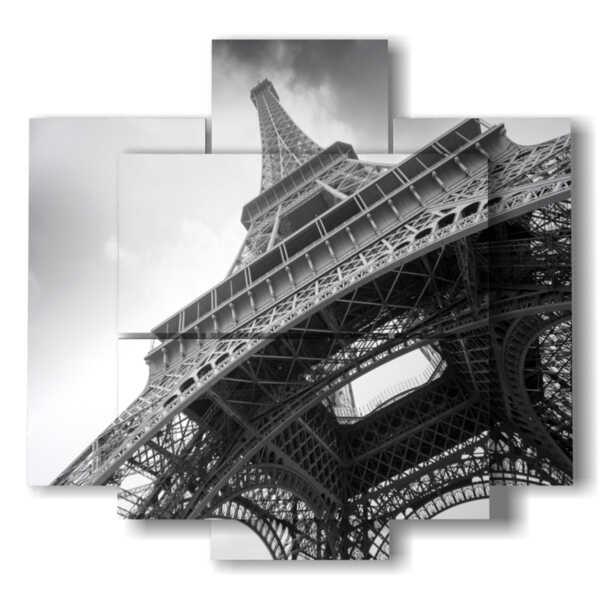 black and white picture Paris Eiffel tour