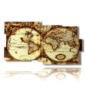 tableaux de la carte du monde