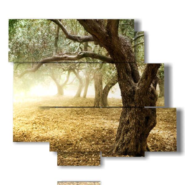 árboles cuadros modernos
