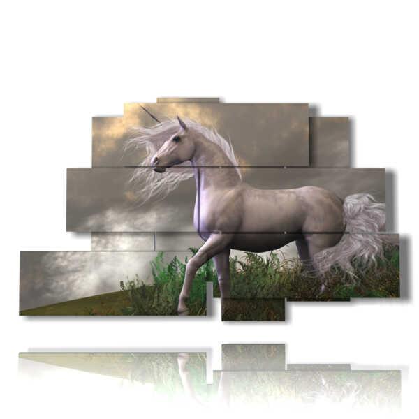 cheval tableaux 3D comme dans les contes de fées