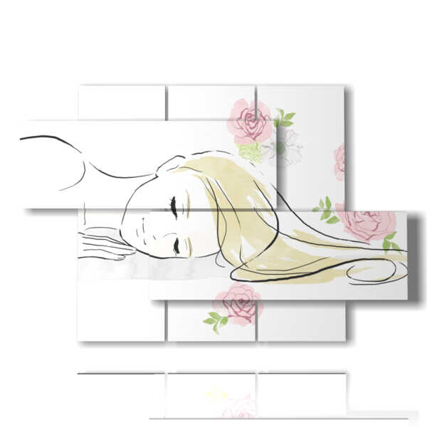 quadro donne in giardino zen
