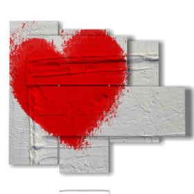 tableaux et coeurs peints