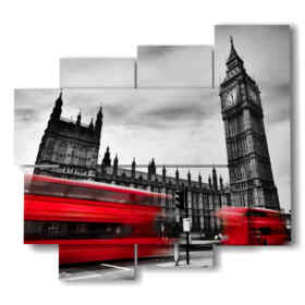Modern picture with London red Bus photos