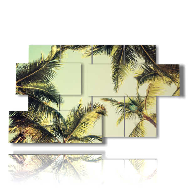 paneles en relieve con árboles