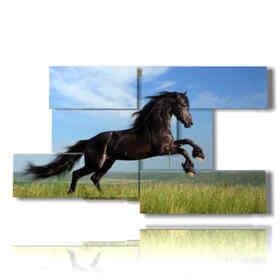 Tableaux modernes cheval sautant