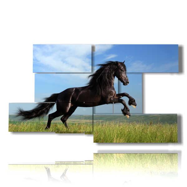en el salto cuadros del caballo