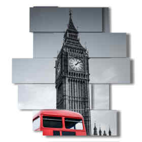 modern painting London: Bus and Big Ben