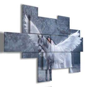 cuadros de caballos famosos de las alas de un ángel blanco