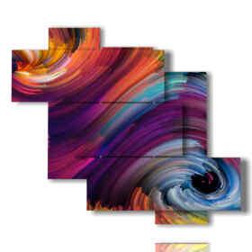Las rayas modernos del cuadro del color