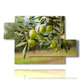 quadri di alberi moderni ulivo
