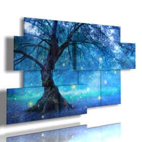 cuadros con árboles estilizados