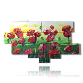 picture with photos of paintings poppies