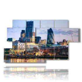 modern painting London: Financial District 01
