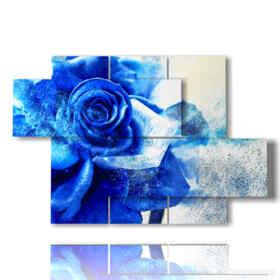 Bild mit blauen Rosen