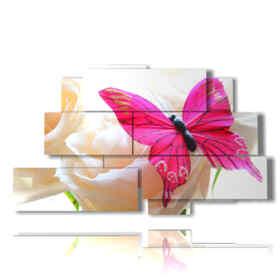 quadri con fiori e farfalle meravigliosi