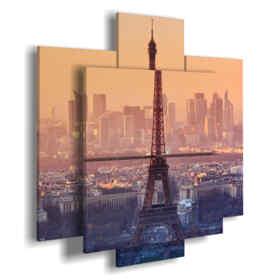 quadro tour Eiffel al tramonto