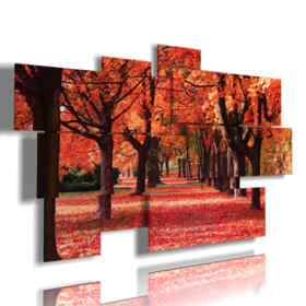 picture with photos of red hot autumn
