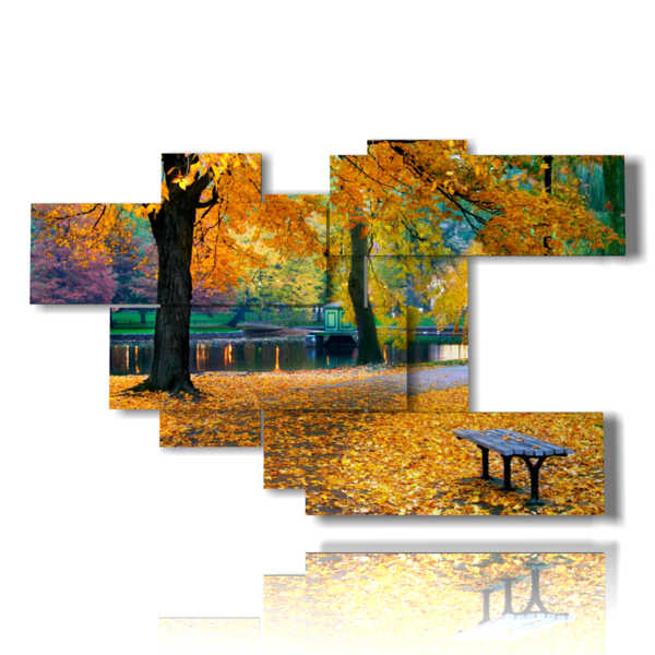 painting with pictures autumn landscapes nature