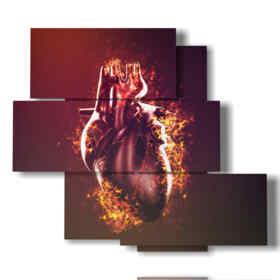 quadro forma di cuore vero
