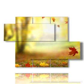 quadro foglie autunnali