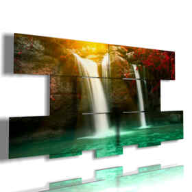 waterfall moving picture with the sun