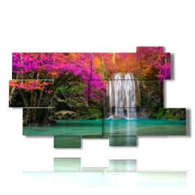 tableaux modernes chute d'eau enchantée