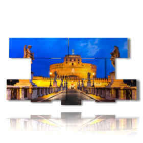 Roma painting entry Castel Sant'Angelo