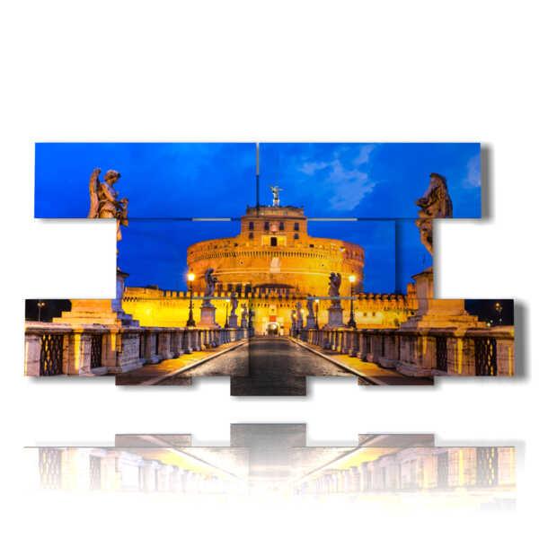 Roma entrée tableaux Château Saint-Ange