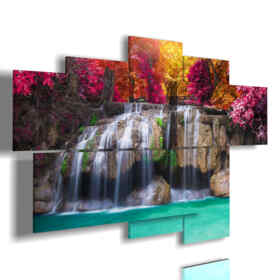 cuadro sobre un lienzo de la cascada encantada
