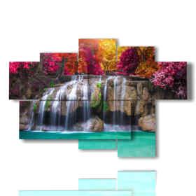 quadro su tela cascata incantata